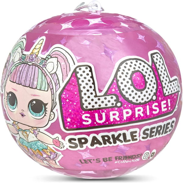 L.O.L. Surprise! 560296 L.O.L Sparkle Series with Glitter Finish and 7 Surprises, Multi