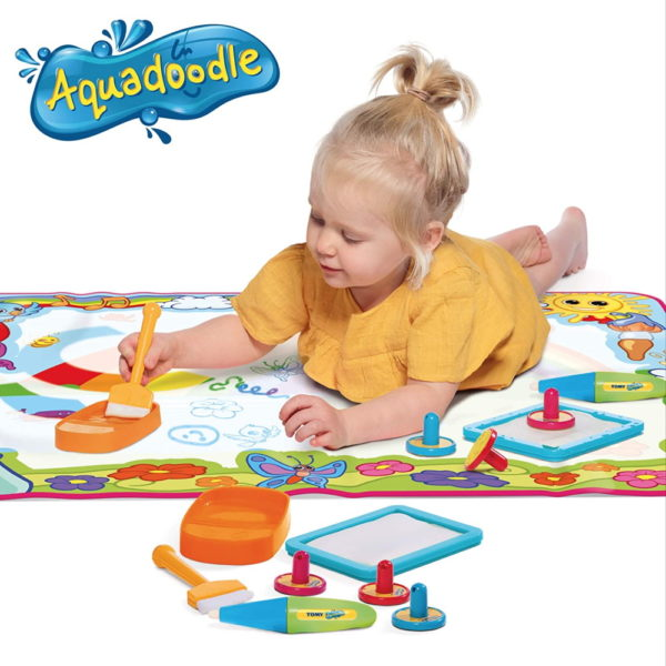 Aquadoodle Super Rainbow Deluxe Large Water Doodle Mat, Official TOMY No Mess Colouring & Drawing Game, Suitable for Toddlers and Children From 18 Months