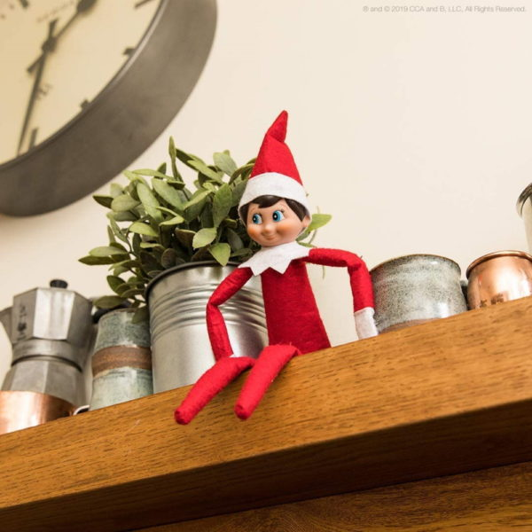 Elf on the Shelf: A Christmas Tradition | One Scout Elf (boy or girl with light or dark skin) | Includes Keepsake Box and Children's Book | Register your Elf to download an Adoption Certificate + Santa Letter (Boy Light with Blue Eyes (2019))