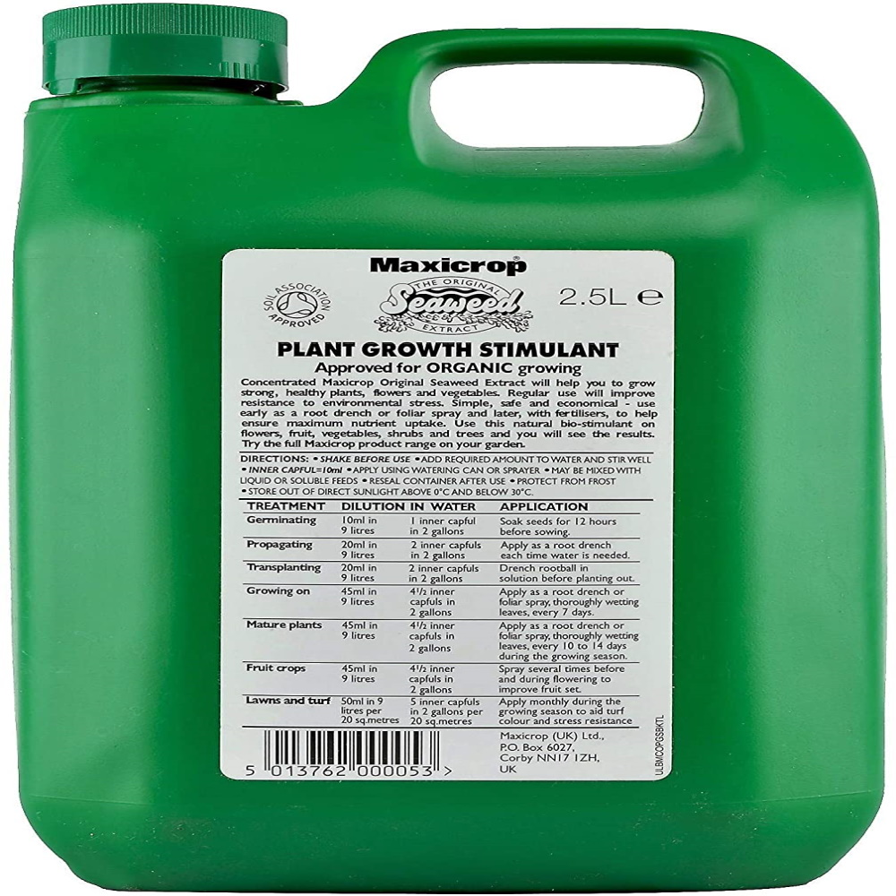 Maxicrop Original Seaweed Extract Organic Plant Growth Stimulant, 2.5 liters, Green, 2.5 Litre